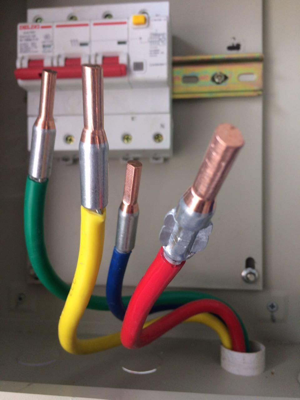C45铜铝插针安装 电表铜铝插针 断路器铜铝插针